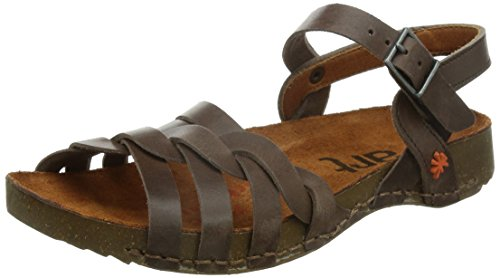 ART I BREATHE Damen Slingback Sandalen Braun (Brown)