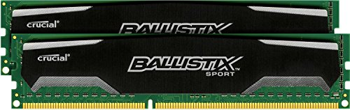 Crucial Ballistix Sport  16GB Kit (8GBx2) 1600 MHz Clock Speed DDR3 PC3-12800 240-Pin UDIMM Memory Module (Ddr3 16gb Udimm)