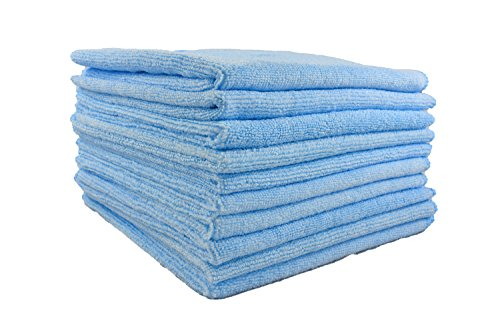 Premium Microfiber Towels For Car Bath Or Kitchen 10 Pack By Slush HDAuto Detailing General Cleaning Luxury ClothsPerfect For Car Interior Dishes Furniture Glass Hands Or Face15x 15 Blue