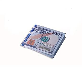 Currency 100 US Dollars Billfold Canvas Wallets