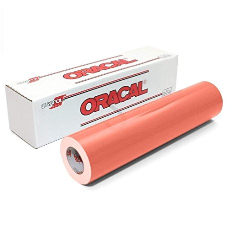 ORACAL 651 Glossy Permanent Vinyl 12 Inch x 6 Feet - Coral