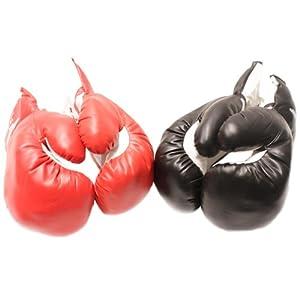 2 Pair Red Corner Black Corner 12oz boxing Gloves Set