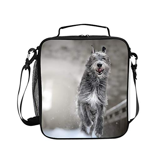 Animal Dog Winter Irish Wolfhound Large and Thick Insulated Tote Bags Food Containers Lunch Bag for Men Women Art Of Lunch