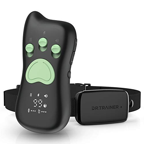 Dr.Trainer Dog Training Collar with Remote, Quick Charge IPX7 Waterproof Shock Collar with APP & Watch Control, Free…
