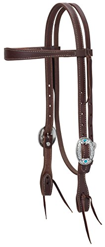 Weaver Leather Working Tack Feather Designer Hardware Slim Browband Headstall