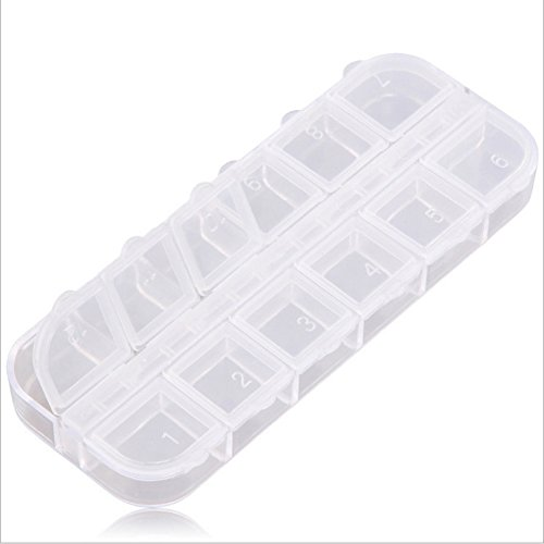 Plastic Storage Box, Denpetec 15 Compartment Jewelry Earring Tool Containers Organizer Box, - Screw Rhinestone Earrings Clip