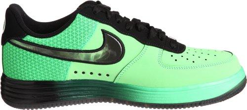 Nike Lunar Air Force 1 Scarpe Da Basket Da Uomo In Pelle 580383-300 Veleno Verde / Nero