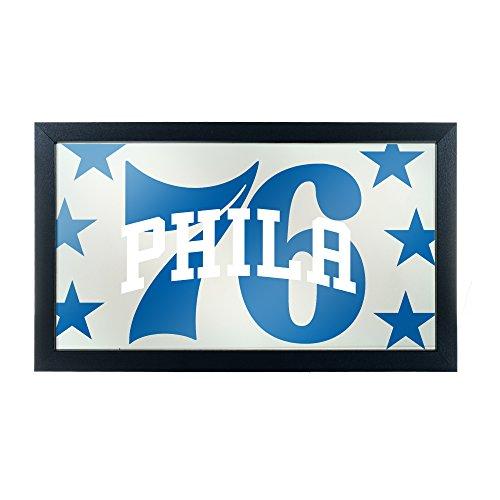 Trademark Gameroom NBA1500-PH2 NBA Framed Logo Mirror - Fade - Philadelphia 76Ers