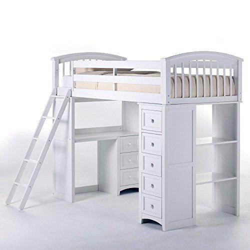 (NE Kids School House Student Loft Bed in White)