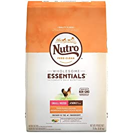 Nutro Wholesome Essentials Natural Adult Dry Dog Food for Small & Toy Breeds – Chicken, Brown Rice & Sweet Potato Recipe