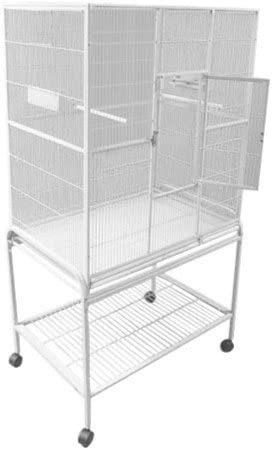 A E Cage Co. 32-Inch by 21-Inch Flight Cage and Stand, Platinum
