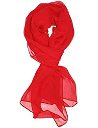 Solid Color Silk Blend Lightweight Accent Scarf