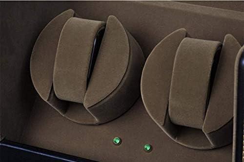 上げ機 自動ウォッチワインダークラムシェルのダブルスイベル3速4速モード自動機械式時計ワインダー収納ボックス 腕時計ワインディングマシーン