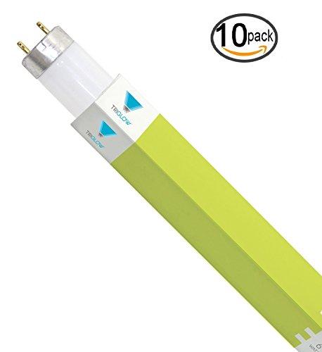 - TriGlow - T8 Fluorescent Tube Light Bulbs (10-Pack)