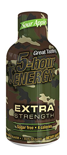 5 Hour Energy Drink Shot, Extra Strength Sour Apple, 12 Count