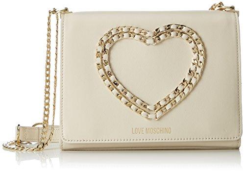 Love Moschino Borsa Vitello Bottalato Avorio, Womens Shoulder Bag, White (Ivory), 6x17x22 cm (B x H T)