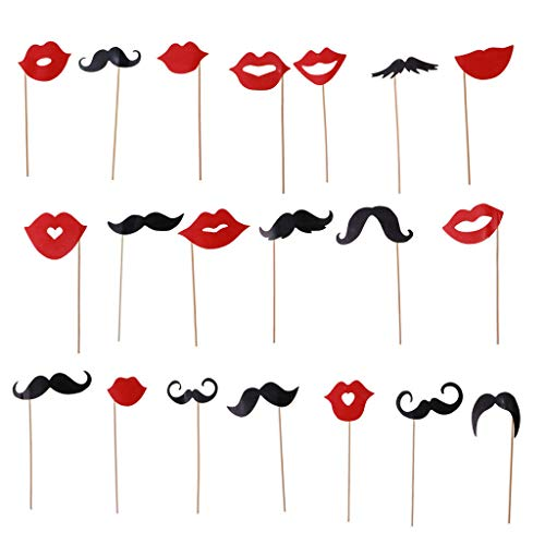 BROSCO Wedding Photo Booth Props Kit -Bachelorette Party Photo Props Reunions -