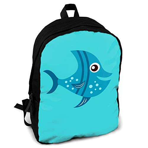 - Giinly Lisbon Oceanarium Siamese Fighting Fish Full-Size Printed Custom Multipurpose School Bag Backpack Travel Daypack for Adult