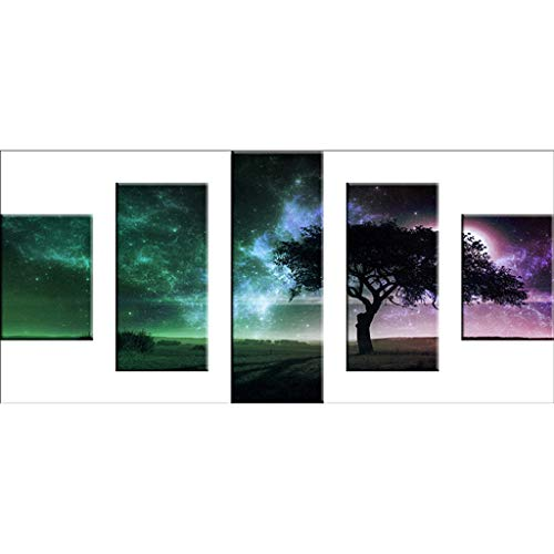 Amaping 4PCS DIY 5D Full Drill Diamond Painting by Number Kits Crystal Rhinestone Beads Pasted Embroidery Cross Stitch Kits Embellishment Arts Craft for Home Wall Hanging Decor (Crystal Tree) (Needle Embellishment)