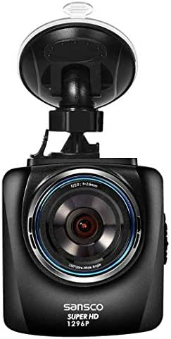 SANSCO 2K 1296P Ultra HD 2304x1296 Car Dash Cam, 50% Higher Resolution Than 1080p, Auto Emergency Recording In-Car Dashboard Camera with Excellent Night Vision, Loop Recording, Various Alerts