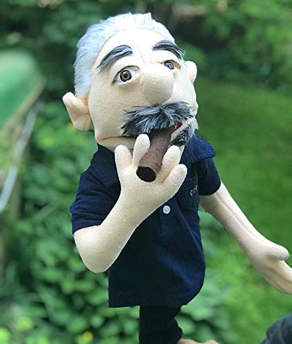 Golf club head cover puppet