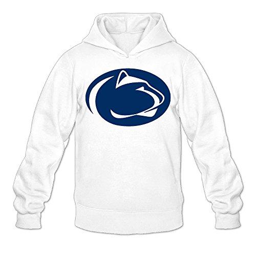 QK Penn State University Men's Athletic Pullover Hood XL White
