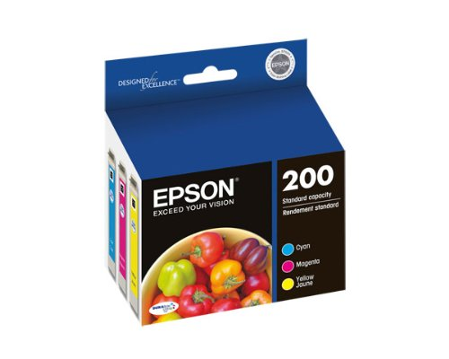 Epson Expression Home XP-200 3-Color Ink Combo Pack (OEM) 165 Pages Ea. ()