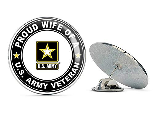 US Army Veteran Proud Wife Steel Metal 0.75