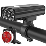 USB Rechargeable Bike Light Set Front and
