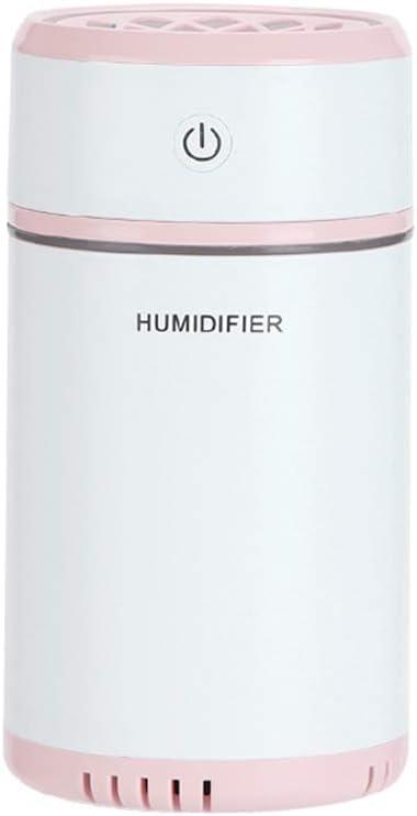 200Ml Humidificador USB Mini Coche Oficina Mesa Purificador De Aire Agua Hidratante Relleno Y Eliminación Electricidad Estática Luz De Noche,Pink: Amazon.es: Hogar