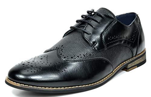 Bruno Marc Men's Dress Shoes Wingtip Oxfords Florence-1 Black 10 M US ()