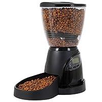 Aspen Pet Lebistro Alimentador programable para perros y gatos 2 tamaños en negro
