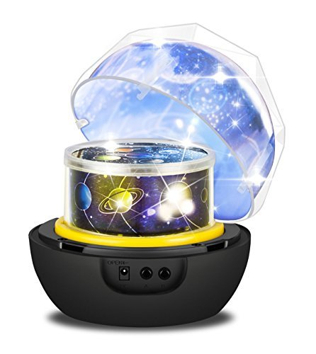 Backey Star Night Light Projector,Sleep LED Night Light Lamp with Starry Sky,Colorful Night Light with Rotating,USB Cable Plug for Kid Bedroom,Christmas Gift-4 Sets of Film