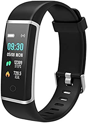 BingoFit Unique Fitness Tracker, Color Screen Slim Activity Tracker Watch, Waterproof Smart Band Step
