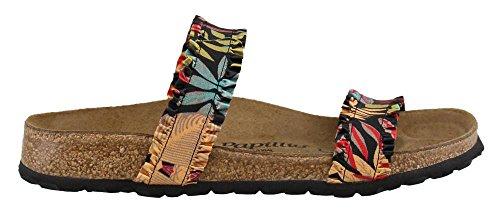 Birkenstock Women's Curacao Flower Frill Black Textile Sandal 40 (US Women's 9-9.5) - Birkenstock Floral Sandals