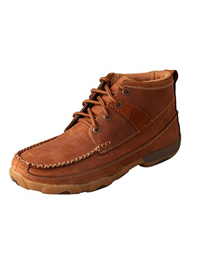 Moc Womens Slip - Twisted X Women's Oiled Saddle Lace-Up Driving Shoes Moc Toe (7, Brown)