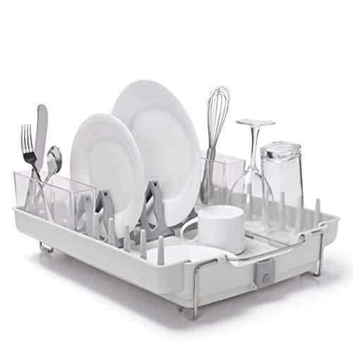 OXO Good Grips Convertible Foldaway Dish Rack, Stainless Steel -