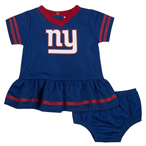 NFL New York Giants Baby-Girls 2-Piece Football Dress Set, Blue, 3-6 Months