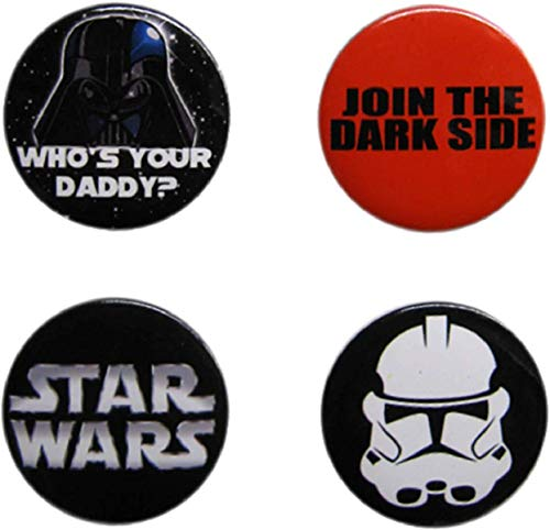 Star Wars Dark Side Button Set Of 4 Amazon In Clothing Accessories