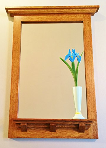 Mission style mirror with iris