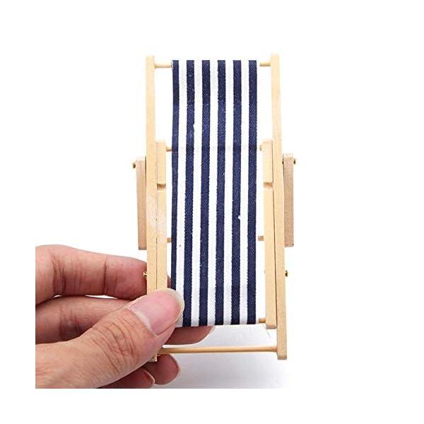TINGB Accessori per mobili da Esterno di Alta qualità Pieghevoli in Miniatura per sedie a Sdraio in Legno per sedie a… 2 spesavip