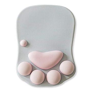 Amazon.com: Cute Cat Paw Reposamuñecas de silicona suave ...
