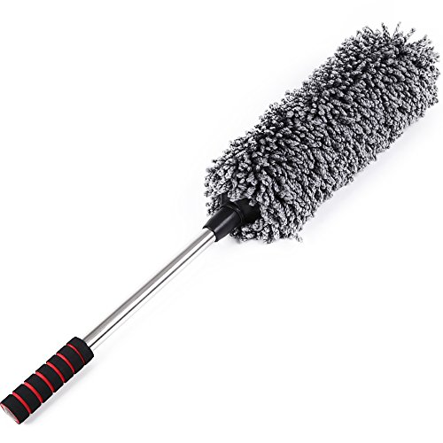 japan solutions multipurpose microfiber car duster with long extendable handle 32inches lint. Black Bedroom Furniture Sets. Home Design Ideas