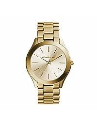 Michael Kors Slim Runway MK3179 Women's Wrist Watches, Gold Dial