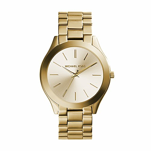 (Michael Kors Women's Runway Gold-Tone Watch MK3179)