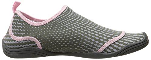 JSport by Jambu Women's Mermaid Monk Strap Flat, Grey/Petal, 6 M US Grey/Petal