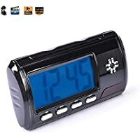 HD Spy Camera Clock Hidden Camera Loop Video Recorder Motion Activated Mini Home Security Camera [Black New Version ]