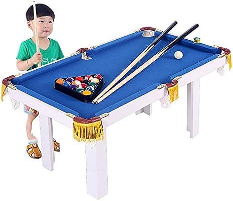 Yishelle-game Juego de Mesa, Niños portátil Mesa de Billar por Billar Junior Tabla Familia Sport Juego for niños niñas para Vacaciones de cumpleaños (Color : Azul, tamaño : 91x43x54cm): Amazon.es: Hogar