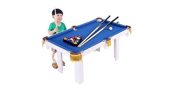 Niños portátil Mesa de Billar por Billar Junior Tabla Familia Sport Juego for niños niñas Tabla Juego De Mesa (Color : Azul, tamaño : 91x43x54cm): Amazon.es: Hogar