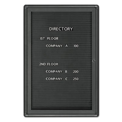 Enclosed Magnetic Directory, 24 x 36, Black Surface, Graphite Aluminum Frame, Sold as 1 Each